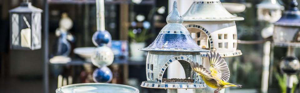 Vogelhaus – Vogeltränke – Keramiklampe